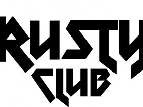 Rusty club logo negro